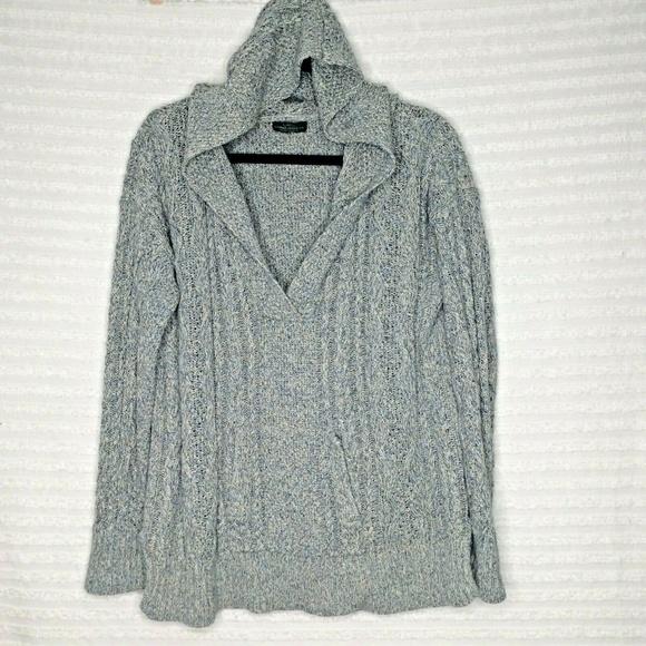Lauren Ralph Lauren Sweaters | Gray Hooded Sweater | Poshma