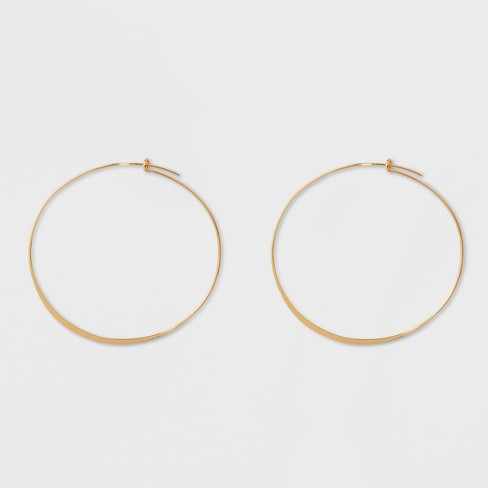 Large Thin Hoop Earrings - A New Day™ Gold : Targ