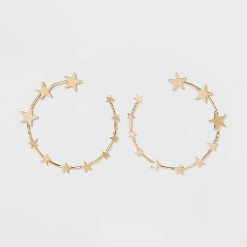 Star Hoop Earrings - Wild Fable™ Bright Gold : Targ