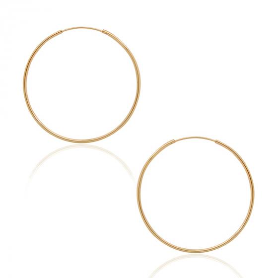 Endless Hoop Earrings - Hypoallergenic Round Circle Dangling Tube .