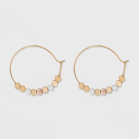 Brass Beads Hoop Earrings - Universal Thread™ Gold : Targ