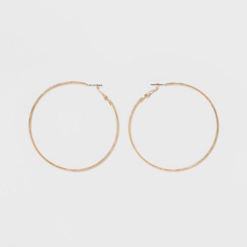 Textured Hoop Earrings - A New Day™ : Targ