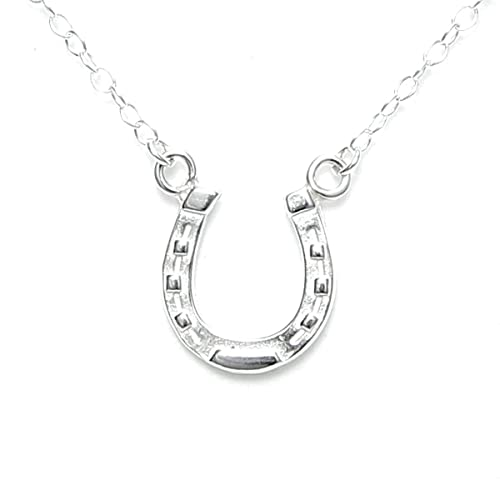Amazon.com: Lucky Horseshoe Necklace Sterling Silver -Gift Packed .