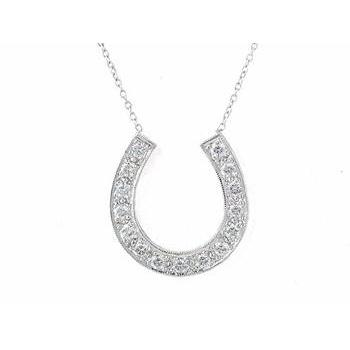 "Large Diamond Horseshoe Necklace (as seen on ""Sex and the City ."