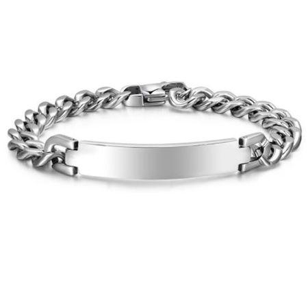 Personalized 9mm Quality Stainless Steel ID Bracelet .