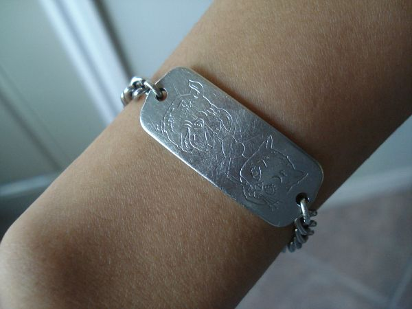 Identification, Please. | Hand stamped jewelry, Id bracelets .