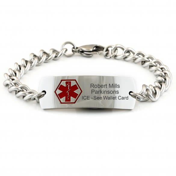 Customized Engraved Products | Men's Medical Alert Bracele