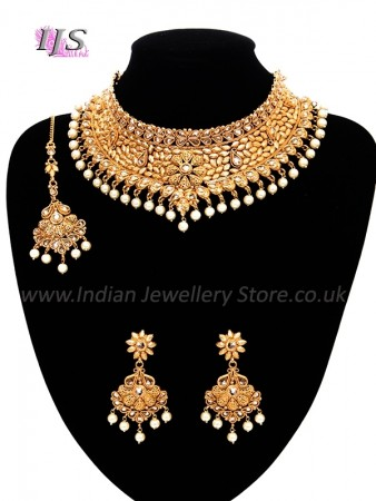 Regal Flower Pearl Indian Bridal Jewellery | Indian Jewellery UK U
