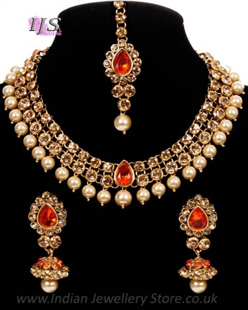 Elegant Indian Jewellery Set - Adina | Indian Jewellery UK U