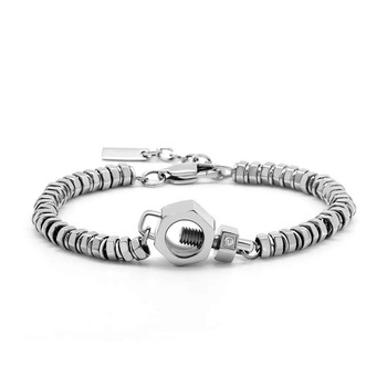 Fashion Stainless Steel Screw Chain Bracelet Italy,Custom Charms .