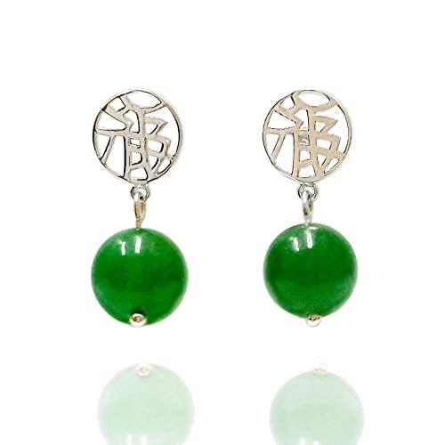 Genuine Jade Earrings: Amazon.c