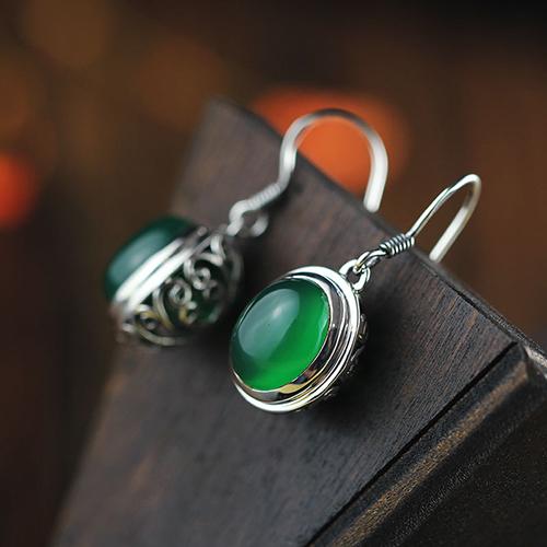 Vintage Jade Drop Earrings | Shop Jade Earrings from Jadeo