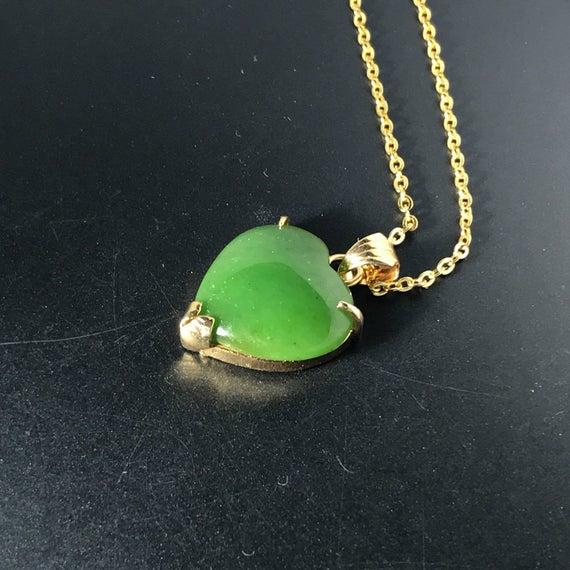 Jade Pendant Necklace Jewelry Jade Heart-Shaped Pendant Jade | Et