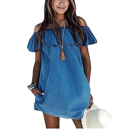 Denim Dress Women's: Amazon.c