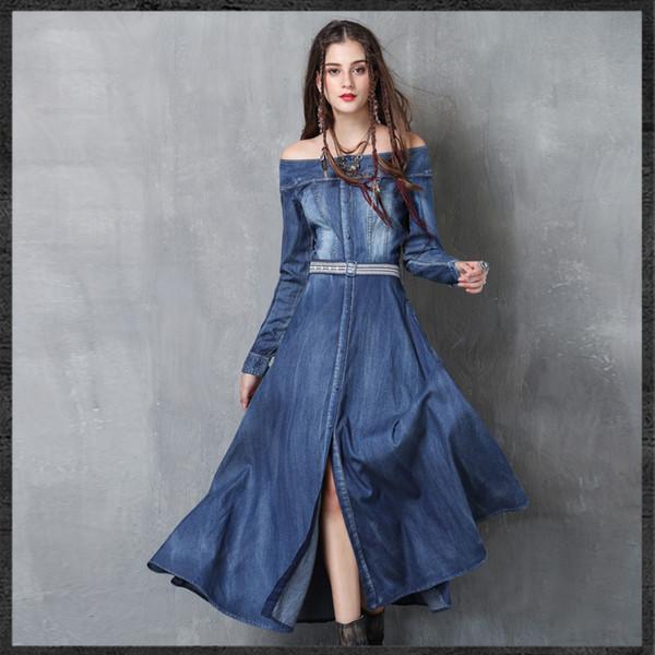 2017 S L Women Denim Dress Women'S Clothing Denim Jeans Dress Off .