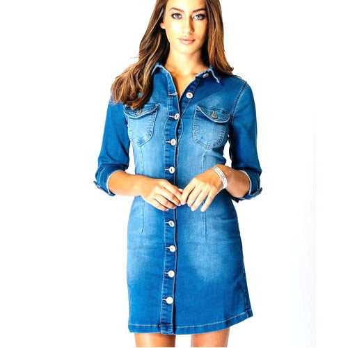 Plain Large Denim Dress, Rs 700 /piece, Philios India Private .