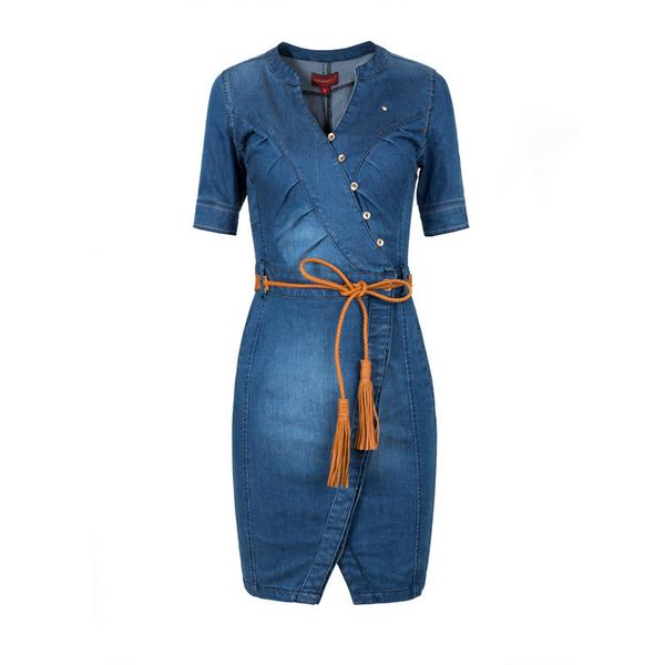 Tight Fitted Denim Jeans Dress – Shalaunie's Clos