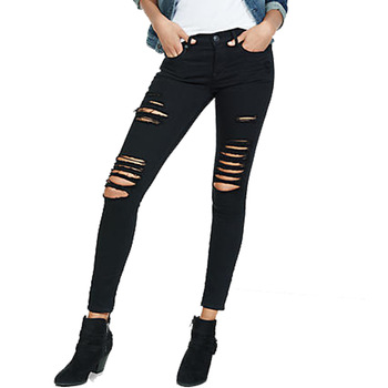 New Stylish Ripped Jeans Pants For Girls - Buy Black Girl Jeans .