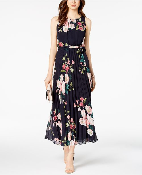 Jessica Howard Petite Belted Floral Maxi Dress & Reviews - Dresses .