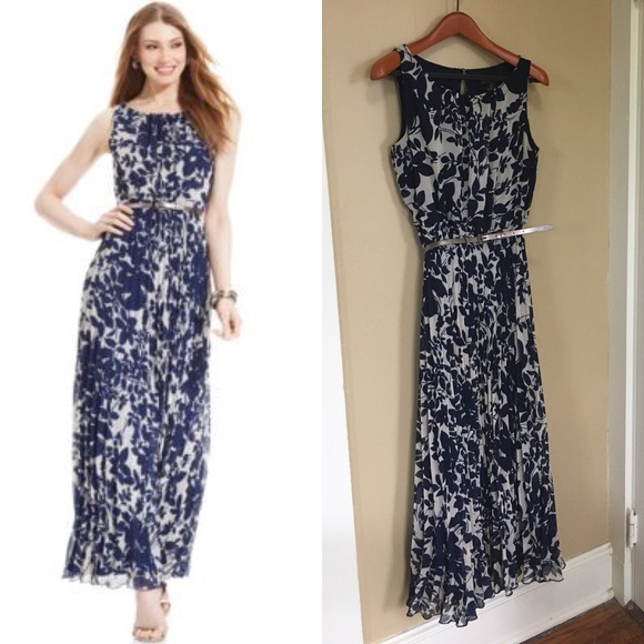 Jessica Howard Dresses | Floralprint Pleated Maxi Dress | Poshma