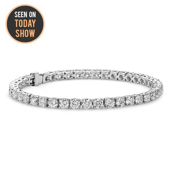 Olivia 18k White Gold Tennis Bracelets - Jewelry | Cate & Chl