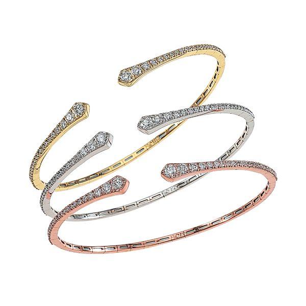 D.A. Gold Bracelet 001-170-00163 18KY - Diamond Bracelets .