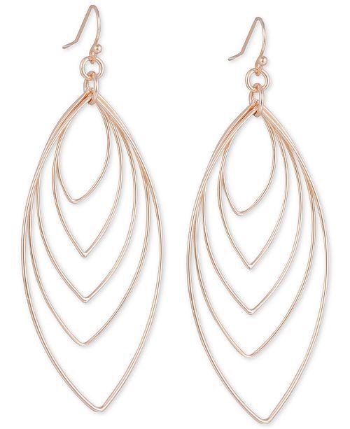 GUESS Marquise Orbital Drop Hoop Earrings & Reviews - Earrings .