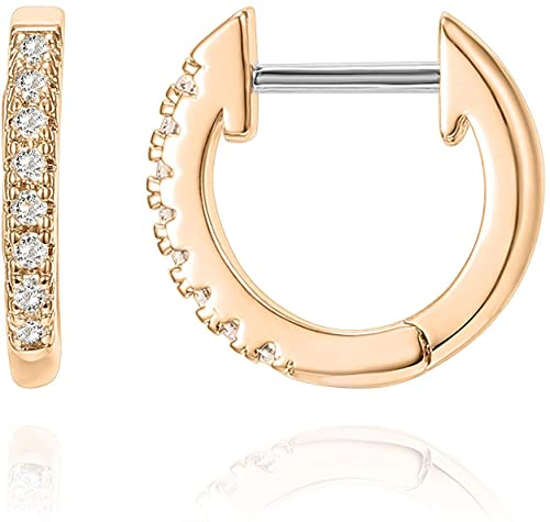 Amazon.com: PAVOI 14K Rose Gold Plated Post Cubic Zirconia Cuff .