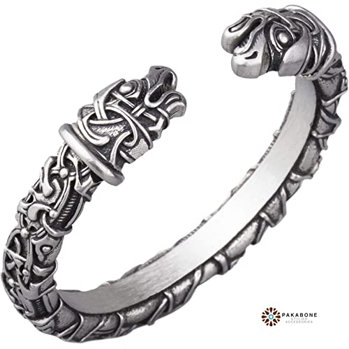 Amazon.com: Viking Bracelet - Nordic Metal Arm Ring with Odin's .