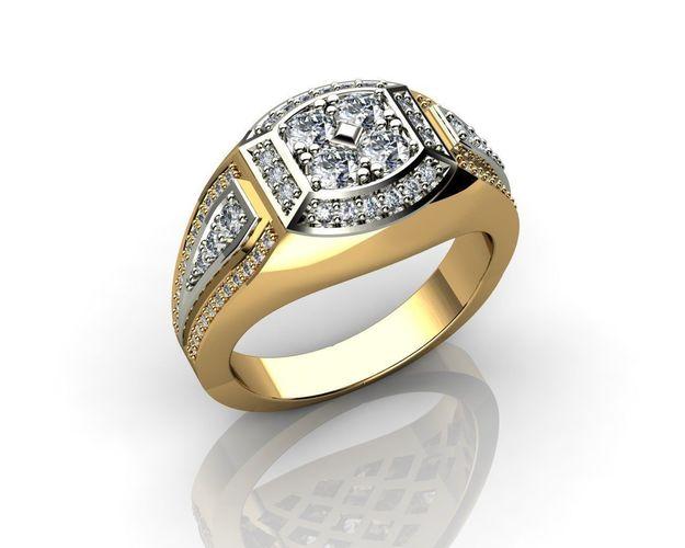 Jewelry for Men Diamond Rings 3D print model | CGTrad