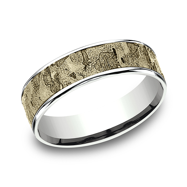Two Tone Comfort-Fit Design Wedding Ring CFT816563314KWY10.5 .