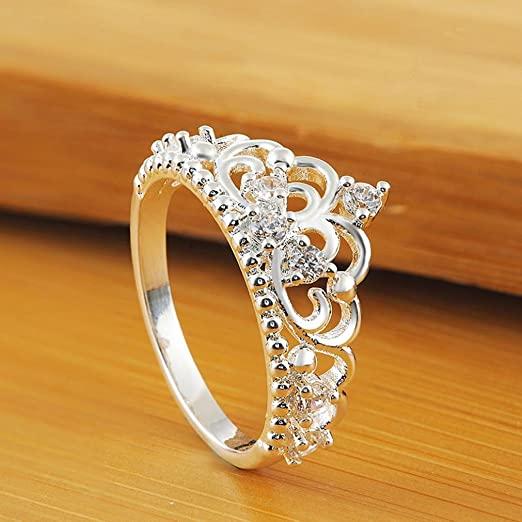 Amazon.com: Hemlock Women Girls Princess Queen Crown Rings Wedding .