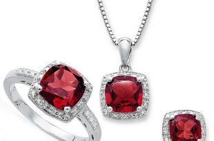 Macy's Gemstone and Diamond Accent Jewelry Sets in Sterling Silver .