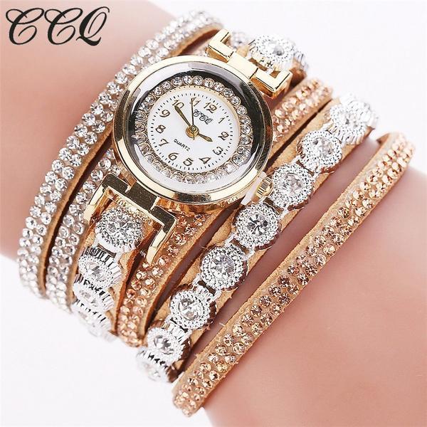 Watch - Luxury Women Full Crystal Wrist Watch – Kaa