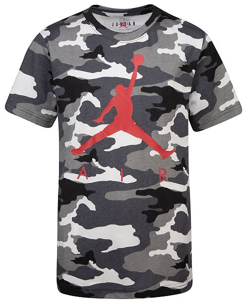 Jordan Big Boys Camo-Print Air T-Shirt & Reviews - Shirts & Tees .