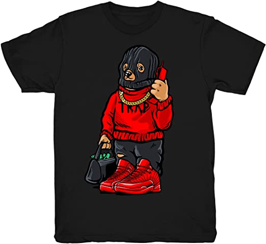 Amazon.com: Gym Red 12 Trap Bear Shirt to Match Jordan 12 Gym .