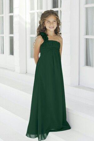 Hunter green junior bridesmaid dress | Hunter green bridesmaid .