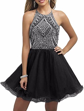 Rieshaneea Junior Dresses Homecoming Party Gown Short Beaded at .