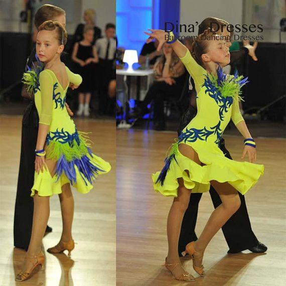 Junior 1 Latin Dancing Dress with shipping. DSI fabrics. Sample .