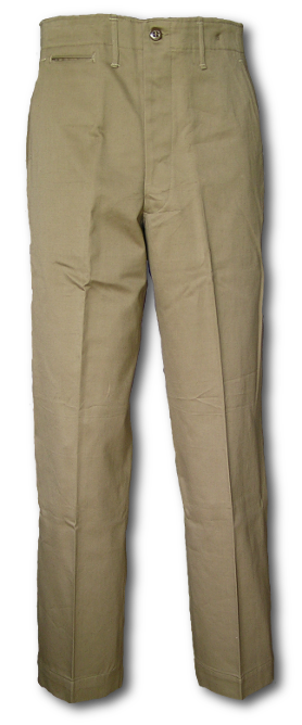 Special Khaki Cotton Trousers (Specification QMC 6-254 Dated 8 .