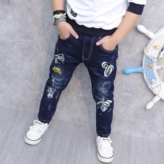 China High Quality Children Clothing Kids Denim Joggers Pants Boys .