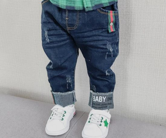 China 2018 Washed New Design Children′s Fashion Jeans Good Quality .