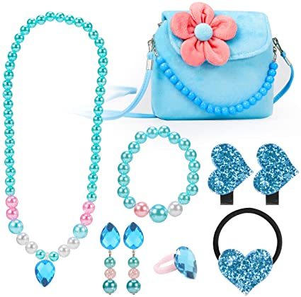 Amazon.com: Hifot Kids Jewelry Little Girls Plush Handbag Necklace .