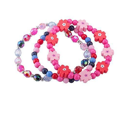 Bracelet Set Kids jewelry- Flower Beads Bracelet for Girls .