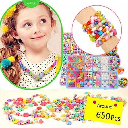 MeMo Toys Kids Jewelry Box DIY Kit 650Pcs Jewelry Making Kits for .