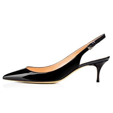 Trendy and elegant kitten heel shoes – thefashiontamer.c