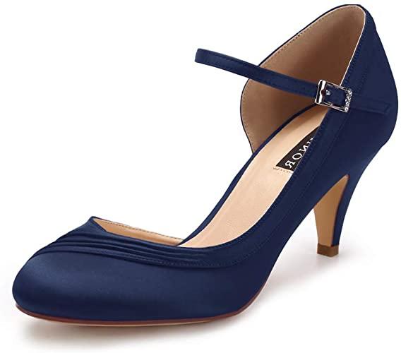 Amazon.com | ERIJUNOR Kitten Heels for Women Comfortable Low Heel .
