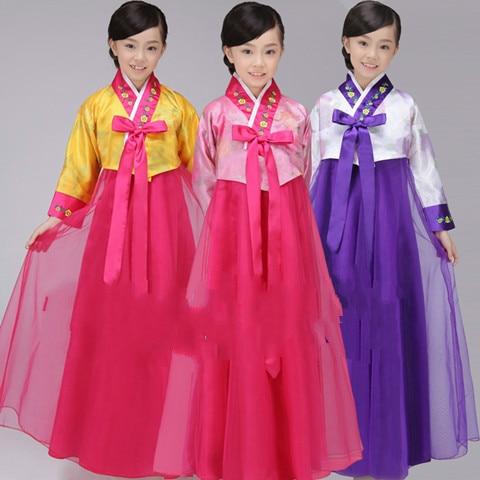 Children's traditional Korean clothes Hanfu Dai Changchun girl .