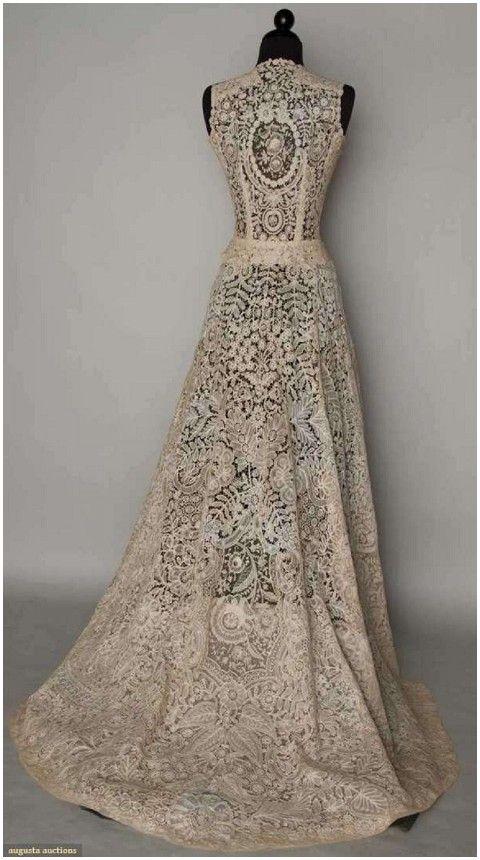 Vintage Lace Wedding Ideas | Vintage lace gowns, Lace weddings .