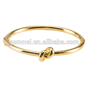 Gemnel Rose Or Gold Bangle Bracelet,Morden Knot Ladies Bracelet .